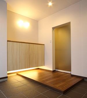 土間のあるマンションの玄関