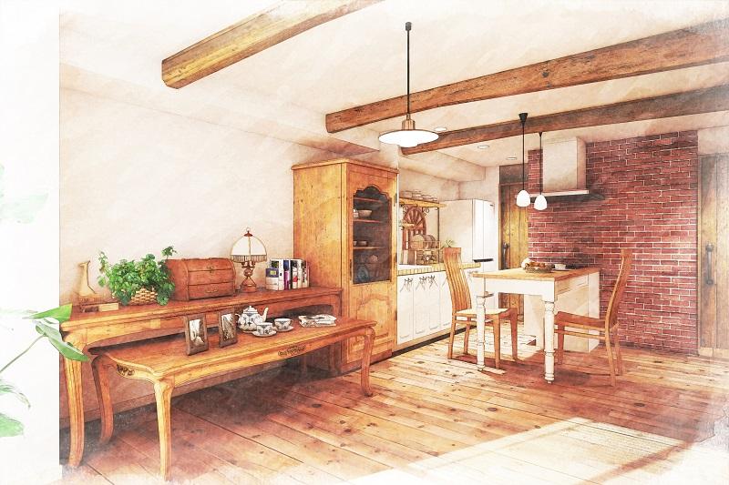 カフェ風キッチンにするコツ:大阪のマンションリフォーム・リノベーションの設計