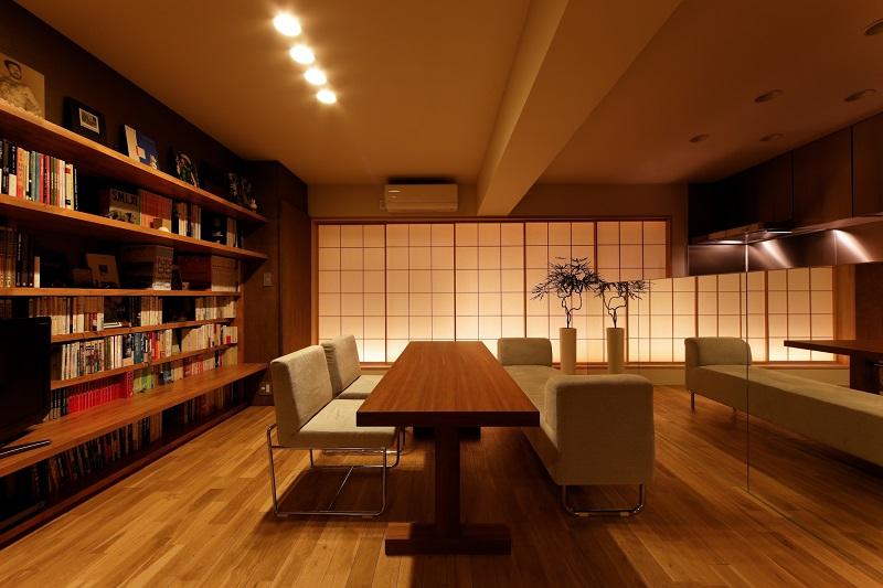 障子の美と機能:大阪のマンションリフォーム・リノベーションの設計