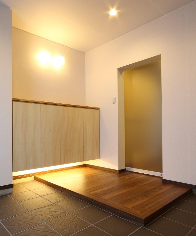 こだわりのマンションリフォーム「土間のある玄関」