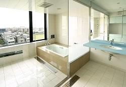 開放感のある浴室