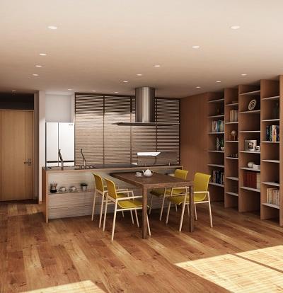 キッチンが主役のマンションリフォーム